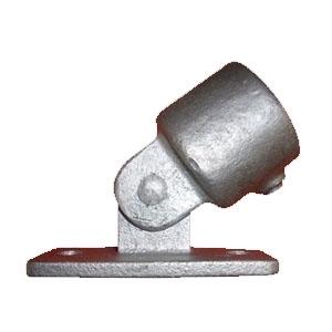 Rør samle fittings: Base beslag m/tilslutning 34 mm 169A 1 - Gelænder fitting, Clamps - 169A_A52