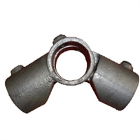 "Clamps, R�r Gel�nder fitting, Clamp: Specielt  T-stk 42,4 mm 148C 1 1/4"" - R�r samle fittings"